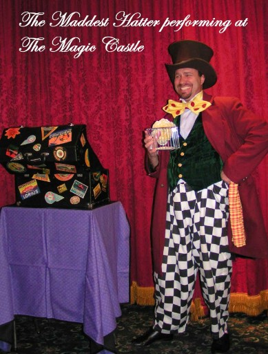 Doug Hoover performing at the world famous Magic Castle in Hollywood as